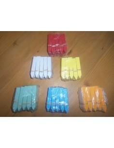 50 Etiquettes à piquer en PVC souple - longueur 8cm